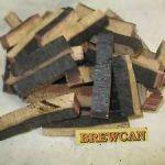 charred oak staves