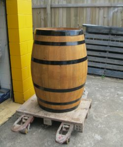 Wooden Barrel 225 litre Refurbished - Natural Oil
